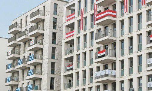 Österreichs Athleten bezogen im Olympischen Dorf die fünfte und sechste Etage, die Sportler Syriens wohnen zwei Stockwerke darunter.  gepa