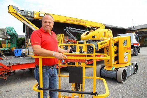 Über 100 verschiedene Maschinen bietet Harald Lorenz zum Vermieten an. Fotos: VN/Hofmeister