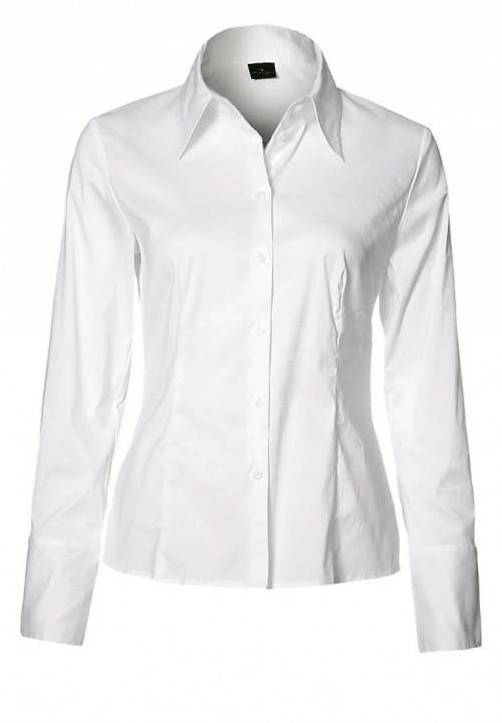 Puristisch: Weiße Hemdbluse um 39,95 Euro, gesehen bei s.Oliver