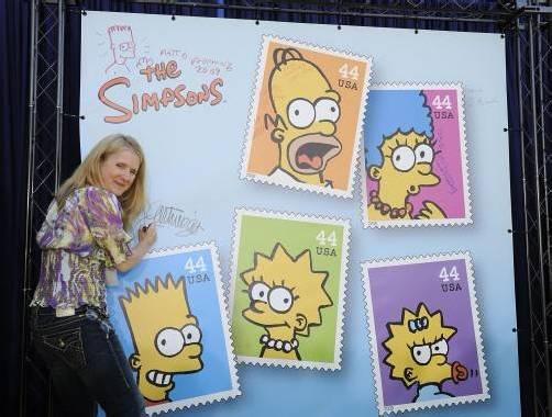 """682 Millionen Briefmarken mit den Konterfeis der """"Simpsons"""" mussten eingestampft werden. Foto: dapd"""