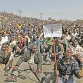 Anhaltende Proteste von Minenarbeitern in Südafrika