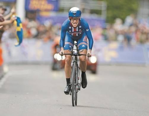 Armstrong fuhr mit einem Schnitt von 46 km/h zu Gold. Foto: ap