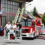 Lustenauer Feuerwehr mit neuer Drehleiter