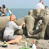 Vergängliche Kunst am Rorschacher Seeufer