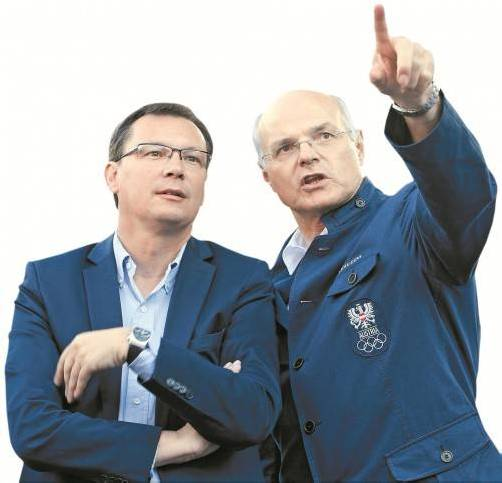 """Der Auftrag von ÖOC-Chef Karl Stoss an Sportminister Norbert Darabos: """"Wir müssen im Medaillenspiegel wieder nach oben."""" Foto: gepa"""