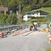 Alfenzbrücke in Dalaas wird derzeit saniert