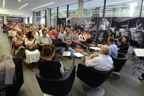 Lesehof Arbeiterkammer Verena Brunner, Reinhard Haller und Brigitta Soraperra
