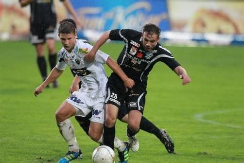 Der erst 20-jährige Christoph Domig wartete mit einer ansprechenden Leistung als zentraler Mittelfeldspieler auf. Fotos: Stiplovsek/2