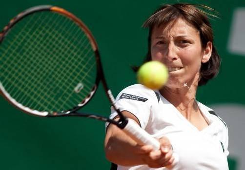 Die Schwarzacherin Yvonne Meusburger muss bei den US Open durch die harte Qualifikationsmühle. Foto: apa