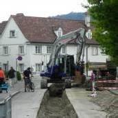 Leitungsbau sorgt für Straßensperre