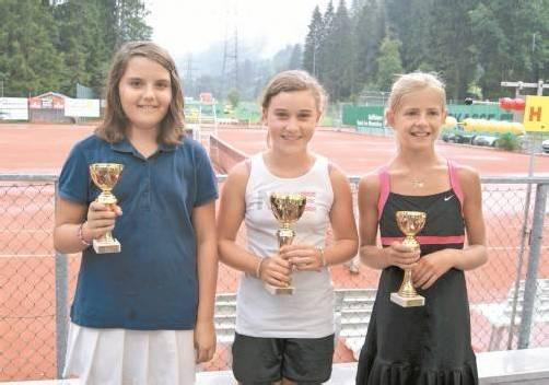 Die Top 3 bei den Mädchen in der U-11-Klasse.