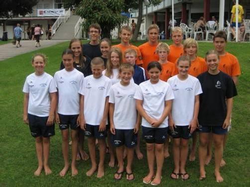 Die Vorarlberger Teilnehmer an den nationalen Schüler- und Jugend-Titelkämpfen in Enns.