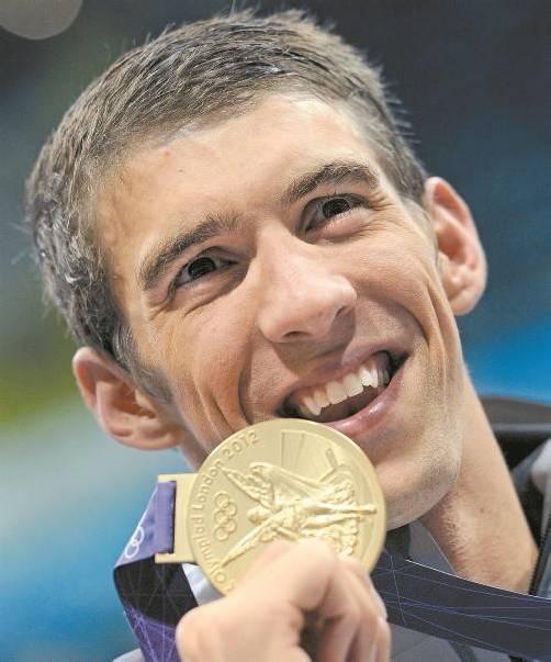 Die neue Nummer eins im Medaillenspiegel: Michael Phelps. Foto: ap