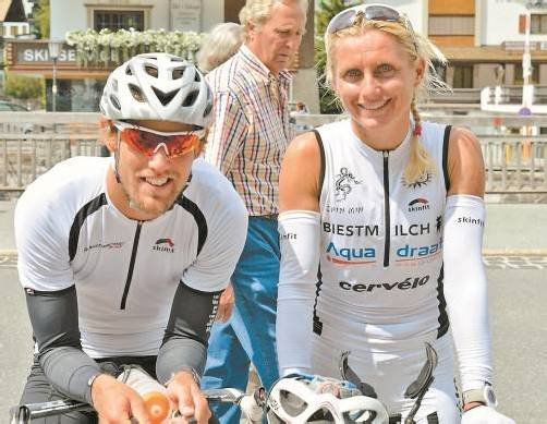 Dominik Berger und Van Vlerken gaben Tipps für Neo-Triathleten.