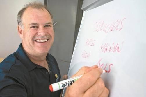 Dornbirn-Coach Dave MacQueen ist bereit für das Try-out.  Hartinger