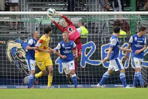 FCL-Torhüter Andreas Lukse und seine Vorderleute ließen gegen Kapfenberg nichts zu. Foto: Steurer