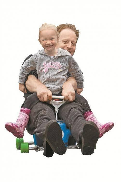 Familie Alster im Rennfieber: Gilbert mit Tochter Melina in Aktion.