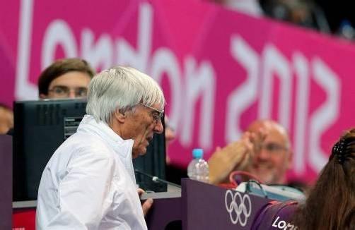 Formel-1-Boss Bernie Ecclestone zeigte sich von der Kulisse in London beeindruckt. Foto: epa