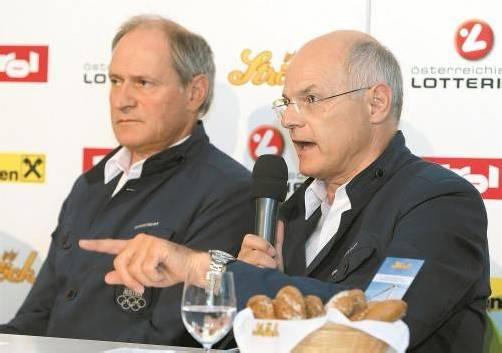 Für die ÖOC-Führung Karl Stoss und Peter Mennel (l.) war London eine schmerzliche Sommerspiele-Premiere. Foto: gepa
