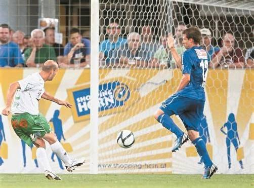 Harald Dürr als Torschütze – das gab es zuletzt am 2. Mai 2008 bei der 1:2-Heimniederlage gegen Austria Wien Amateure. Foto: Diener