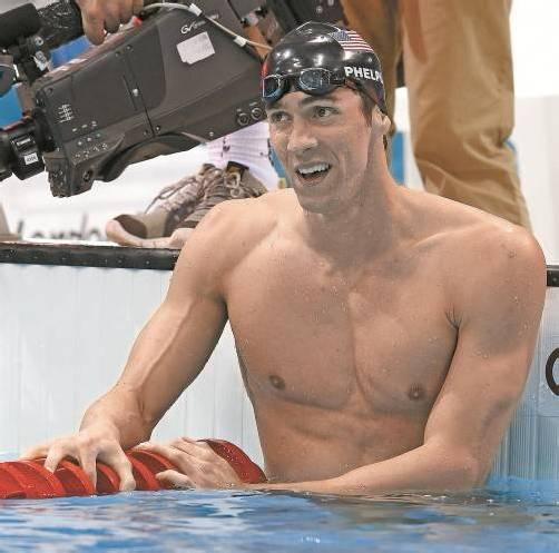 Historisches Gold-Triple für  Michael Phelps. Foto: ap