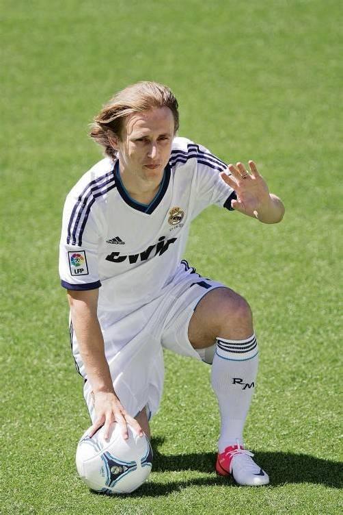 In Madrid angekommen: Luka Modric. Foto: dapd