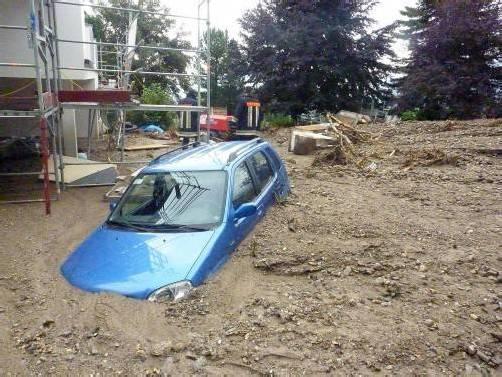 In Südtirol richteten Murenabgänge verheerende Schäden an. Zwei  Menschen mussten sterben.  LPA/Südtirol