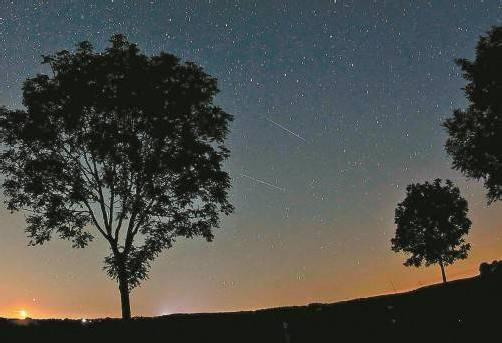 In der Nacht auf Sonntag waren im mitteleuropäischen Raum 50 bis 60 Sternschnuppen pro Stunde zu sehen. Foto: EPA