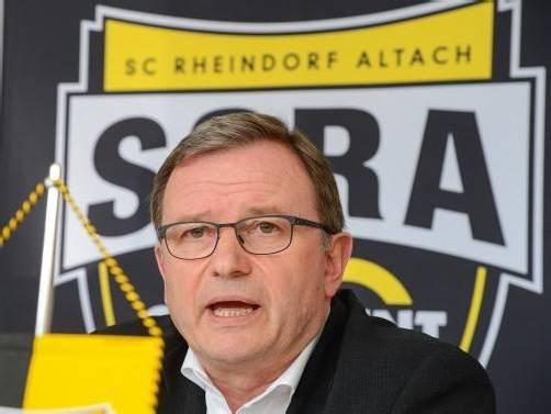 Ist vom großen Potenzial der Mannschaft überzeugt: SCRA-Klubchef Karlheinz Kopf. Foto: VN/Lerch