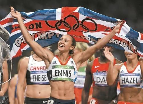 Jessica Ennis erfüllte ihre Gold-Mission ganz souverän – und wurde entsprechend gefeiert. Foto: AP