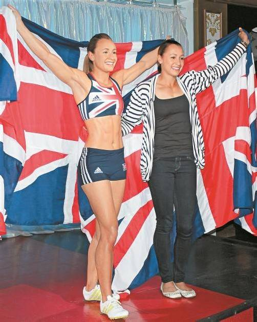 Jessica Ennis überall. Die Siebenkämpferin fand auch in Madame Tussauds Wachskabinett Aufnahme. Foto: ap