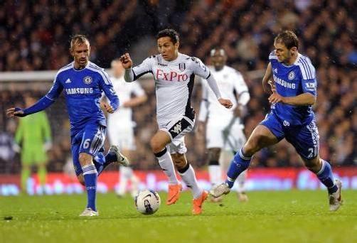 Kerim Frei (18) im Dress des  FC Fulham. Foto: epa