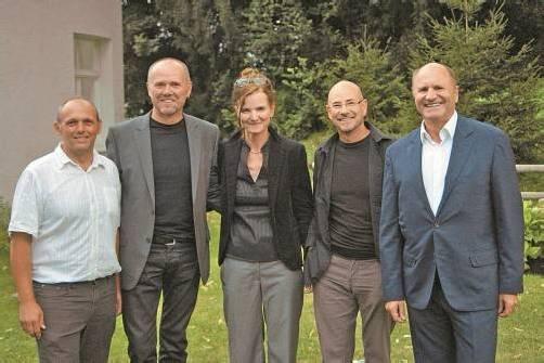Markus Winsauer-Winkler, Hanno Dreher, Brigitta Soraperra, Arno Oehri und Hans-Peter Metzler (v. l.).