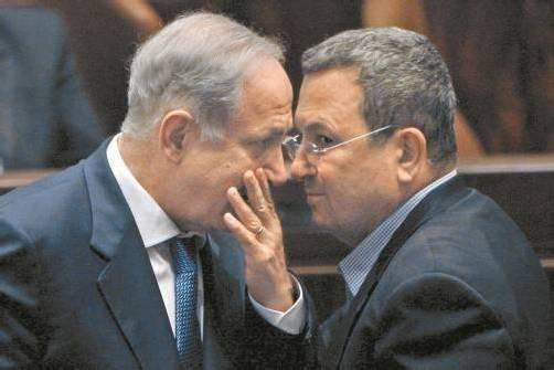Netanjahu (l.) und Barak planen Angriff, so ein Blogger. Foto: RTS