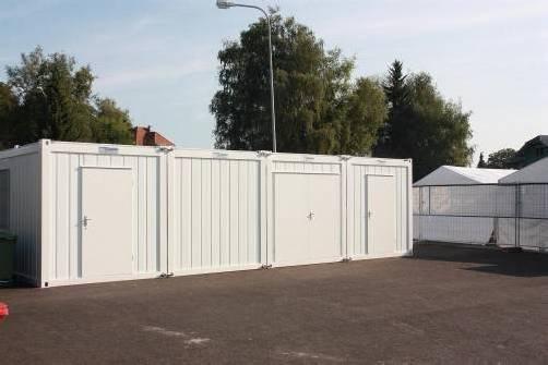 Neue Container decken den Raumbedarf ab.