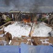 Polizei verbrennt beschlagnahmte Drogen