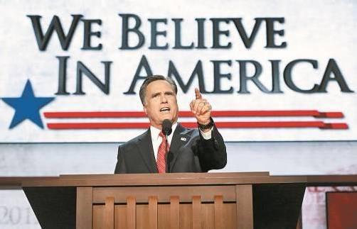 Präsidentschaftskandidat Mitt Romney wirbt um die von Amtsinhaber Barack Obama enttäuschten Wähler. Foto: ap