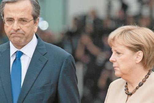 Samaras will Griechenland mehr Zeit verschaffen, doch Merkel macht keine Zugeständnisse. Foto: DAPD