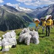Aktion Saubere Alpen am Piz Buin angelangt