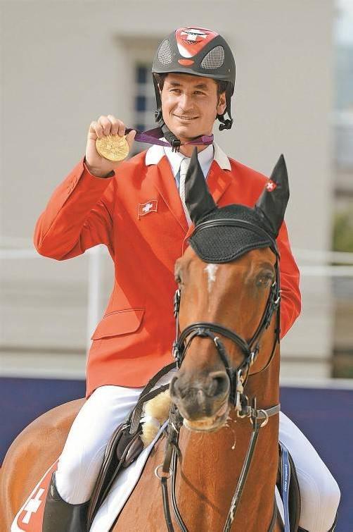 Steve Guerdat, der Schweizer Gold-Reiter. Foto: Ap