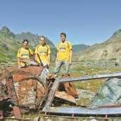 Die heimische Bergwelt wurde von Müll befreit