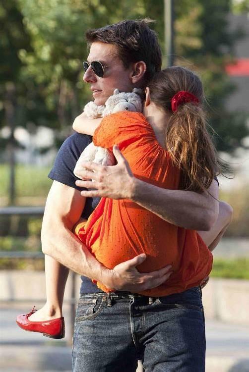 Tom Cruise machte sich mit Tochter Suri einen schönen Tag.