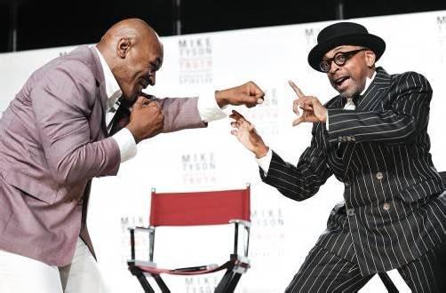 Vom Bad Boy zum gefeierten Bühnen-Liebling: Mike Tyson und der Produzent des Stückes, Spike Lee.