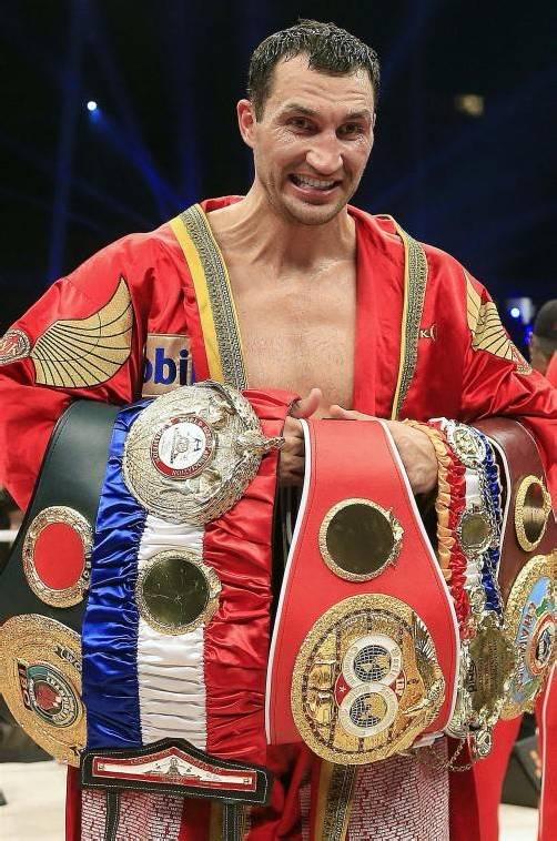 Wladimir Klitschko hat gleich mehrere WM-Titel zu verteidigen. ap