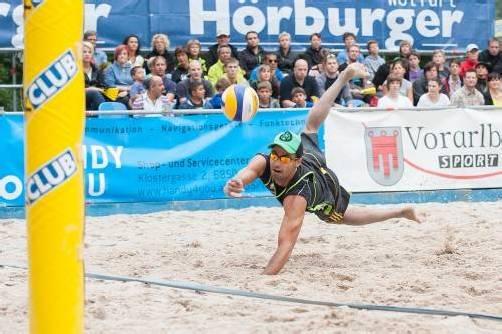 Wolfurttrophy 2012, Beachvolleyball, Spiel um Platz 3 - Österreich/Tschechien, Finale Herren, Sieg Marico/Kufa,