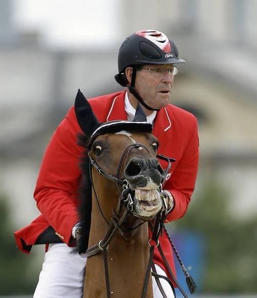 Zehnter olympischer Ausritt: Ian Millar. Foto: ap