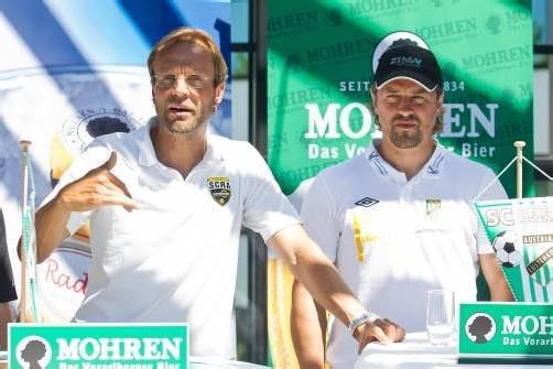 Zwei, die sich schätzen: Rainer Scharinger und Helgi Kolvidsson. Steurer