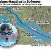 Extremschwimmer will Bodensee bezwingen