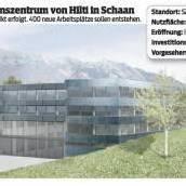Hilti investiert in Schaan 83 Mill. Euro