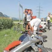 Motorradfahrer kollidierte mit Lkw
